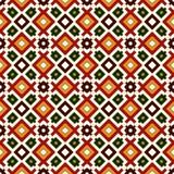 Teste padrão sem emenda em cores tradicionais do Natal Quadrados repetidos e fundo abstrato decorativo brilhante dos rombos ilustração royalty free