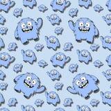Teste padrão sem emenda engraçado com monstro dos desenhos animados Fotos de Stock Royalty Free