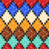Teste padrão sem emenda envelhecido colorido do grunge geométrico da forma do rombo, vetor ilustração royalty free