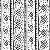 Teste padrão sem emenda envelhecido preto e branco do grunge asteca geométrico, vetor ilustração stock
