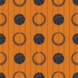 Teste padrão sem emenda eps 10 do esporte do basquetebol Foto de Stock