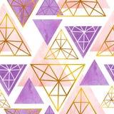 Teste padrão sem emenda escandinavo com triângulo da cor Fotos de Stock Royalty Free