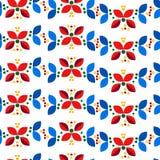 Teste padrão sem emenda escandinavo nórdico mínimo geométrico floral Ilustração Royalty Free