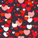Teste padrão sem emenda escuro do amor Fotografia de Stock