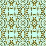 Teste padrão sem emenda estilizado do mosaico do vintage Foto de Stock