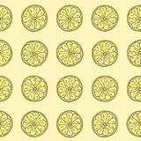 Teste padrão sem emenda Fatia do limão ilustração stock