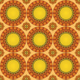 Teste padrão sem emenda feito do mosaico colorido, fundo decorativo abstrato, molde do ornamento da telha Imagens de Stock