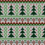 Teste padrão sem emenda feito malha cor do Natal Fotografia de Stock Royalty Free
