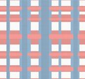 Teste padrão sem emenda feito malha cruzado ilustração stock