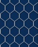 Teste padrão sem emenda feito malha do hexágono para a camiseta Fundo do vetor Imagens de Stock Royalty Free