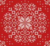 Teste padrão sem emenda feito malha do Natal Fotos de Stock
