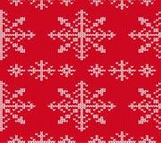Teste padrão sem emenda feito malha floco de neve para a camiseta Vetor do fundo do feriado Fotos de Stock Royalty Free
