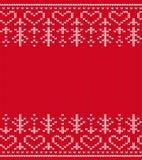 Teste padrão sem emenda feito malha Fundo do Natal Imagem de Stock