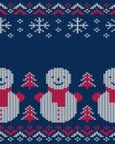 Teste padrão sem emenda feito malha inverno para a camiseta Ilustração do vetor Foto de Stock Royalty Free