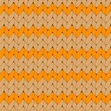 Teste padrão sem emenda feito malha laranja do vetor escandinavo do ornamento Fotos de Stock Royalty Free