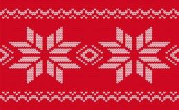 Teste padrão sem emenda feito malha Natal Fotografia de Stock
