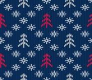 Teste padrão sem emenda feito malha para a camiseta Fundo do inverno Vetor EPS 10 Imagem de Stock Royalty Free