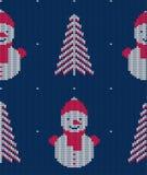 Teste padrão sem emenda feito malha para a camiseta Fundo do vetor do inverno Foto de Stock Royalty Free