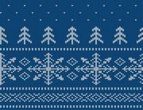 Teste padrão sem emenda feito malha para a camiseta Vetor do fundo do feriado Imagem de Stock Royalty Free