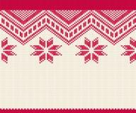 Teste padrão sem emenda feito malha para a camiseta Vetor do fundo do inverno Fotos de Stock Royalty Free