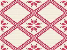 Teste padrão sem emenda feito malha para a camiseta Vetor do fundo do inverno Fotografia de Stock Royalty Free
