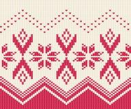 Teste padrão sem emenda feito malha para a camiseta Vetor do fundo do inverno Imagens de Stock Royalty Free
