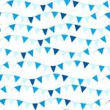 Teste padrão sem emenda feliz de Israel Independence Day com bandeiras e estamenha Feriados judaicos fundo infinito, textura Fotografia de Stock Royalty Free