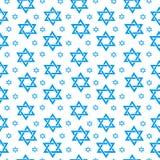 Teste padrão sem emenda feliz de Israel Independence Day com bandeiras e estamenha Feriados judaicos fundo infinito, textura Imagem de Stock Royalty Free