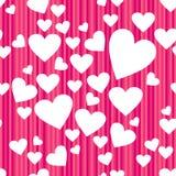 Teste padrão sem emenda feliz do dia de Valentim do vetor Fotos de Stock