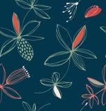 Teste padrão sem emenda floral à moda decorativo Fundo do vetor com flores bonitos ilustração do vetor