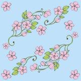 Teste padrão sem emenda floral. ilustração royalty free