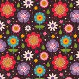 Teste padrão sem emenda floral. Foto de Stock