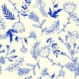 Teste padrão sem emenda floral Imagens de Stock