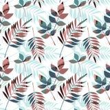 Teste padrão sem emenda floral abstrato com mão na moda texturas tiradas Fotos de Stock Royalty Free