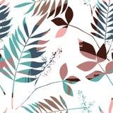 Teste padrão sem emenda floral abstrato com mão na moda texturas tiradas Imagens de Stock Royalty Free