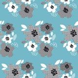 Teste padrão sem emenda floral abstrato do conceito Fotografia de Stock Royalty Free