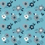Teste padrão sem emenda floral abstrato do conceito para um projeto de superfície Re Fotografia de Stock Royalty Free