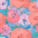 Teste padrão sem emenda floral abstrato no estilo do grunge fotografia de stock