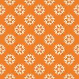 Teste padrão sem emenda floral alaranjado e branco Imagem de Stock