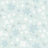 Teste padrão sem emenda floral azul Fotos de Stock Royalty Free