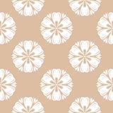 Teste padrão sem emenda floral bege e branco Fotografia de Stock
