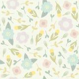 Teste padrão sem emenda floral bonito Imagem de Stock Royalty Free