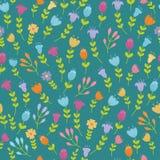 Teste padrão sem emenda floral bonito Imagens de Stock