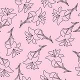 Teste padrão sem emenda floral bonito bonito Fotografia de Stock