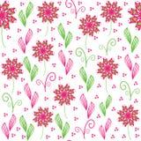 Teste padrão sem emenda floral bonito, e alinhador longitudinal sem emenda Foto de Stock