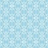 Teste padrão sem emenda floral branco no fundo azul Foto de Stock Royalty Free