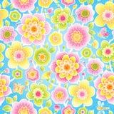 Teste padrão sem emenda floral brilhante. Foto de Stock Royalty Free