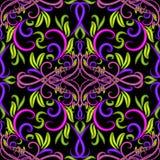 Teste padrão sem emenda floral colorido de paisley Fundo decorativo abstrato brilhante do damasco Fotos de Stock Royalty Free