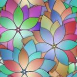Teste padrão sem emenda floral com as flores 3d Fotografia de Stock Royalty Free
