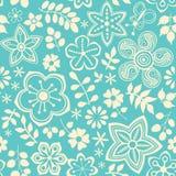 Teste padrão sem emenda floral com flores. ilustração stock